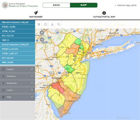 jersey outage portal offers  statewide view