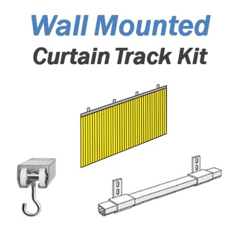wall mount curtain track