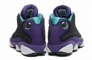 """Girls-Air Jordan 13 Retro GS """"Grape"""" Black/Atomic Teal ..."""