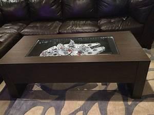 Star Wars Couchtisch : millenium falcon table hope you like it in 2019 house stuff ~ Frokenaadalensverden.com Haus und Dekorationen