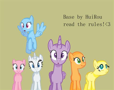 Mlp Friend Pony Base (by Huirou) By Huirou On Deviantart