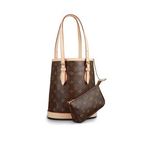 petit bucket monogram canvas handbags louis vuitton