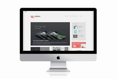 Mockup Imac Mac Apple Transparent Air Macbook