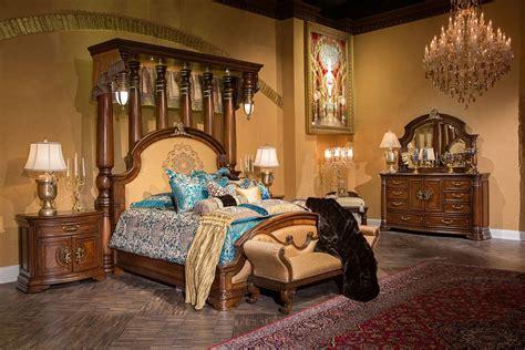 4 Piece Aico Grand Masterpiece Half Tester Bedroom Set