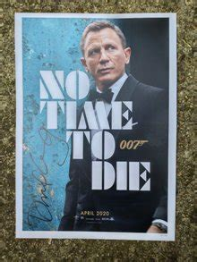 First poster of new Bond movie 'No Time to Die' out ...