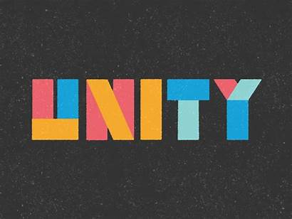 Unity Dribbble Word Church Animated Giphy Typo