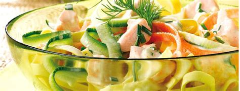 recette de salade de p 226 tes au saumon