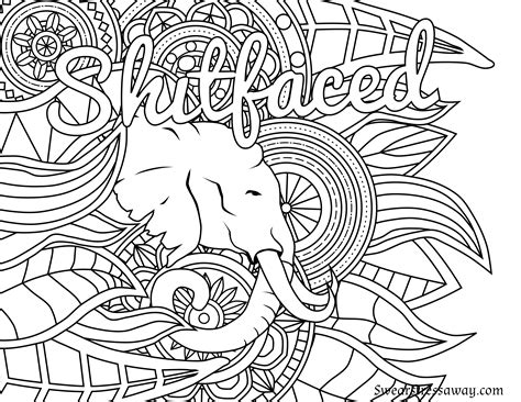 adult coloring pages swear words download free coloring book