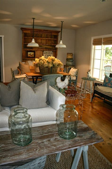 mix  country  shabby chic home decor living room