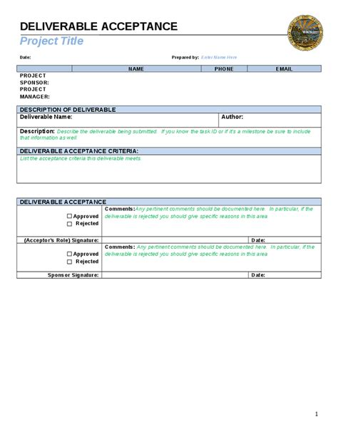 Project Deliverable Template by Deliverables Template Invitation Template