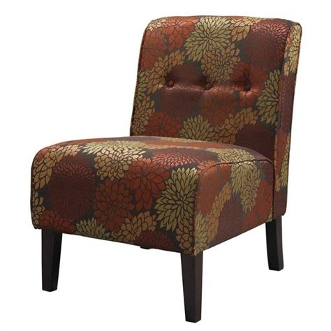fabric tufted accent slipper chair in harvest 36096har