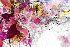 tableau deco fleur ethnique izoa With chambre bébé design avec fleur de bach tableau