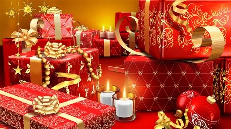 christmas presents wrapped in red hd wallpaper 187 fullhdwpp