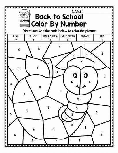 Number Worksheets Kindergarten Easy Coloring