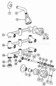 Crane R8470h2 Riviera Two Valve Shower Faucet Parts