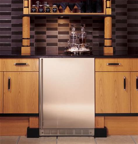 monogram zibshss  stainless steel bar refrigerator