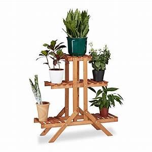Grünpflanzen Für Innen : relaxdays blumentreppe 3 ebenen aus holz blumenst nder ~ Eleganceandgraceweddings.com Haus und Dekorationen