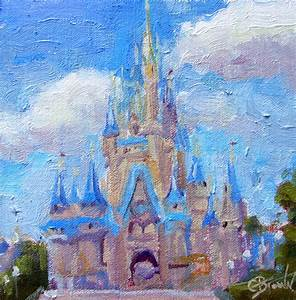Cinderella's Castle painting ~ artist undetermined ...