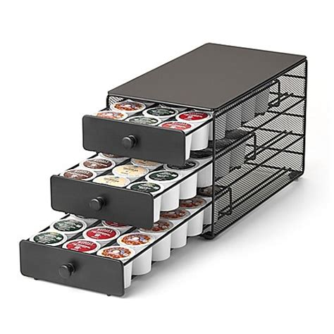 keurig storage drawer quot keurig brewed quot 3 tier 54 k cup capacity drawer by nifty