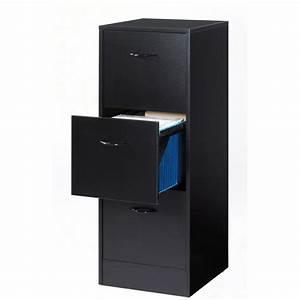 Caisson Bureau Noir : classeur 3 tiroirs pour dossiers suspendus noir rank ~ Teatrodelosmanantiales.com Idées de Décoration