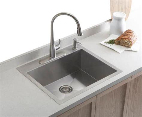 Kitchen Sink Undermount Or Top Mount by Kohler K 3822 4 Na Vault Top Mount Undermount Single Bowl