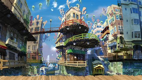 anime city scenery wallpaper wallpaperhdccom