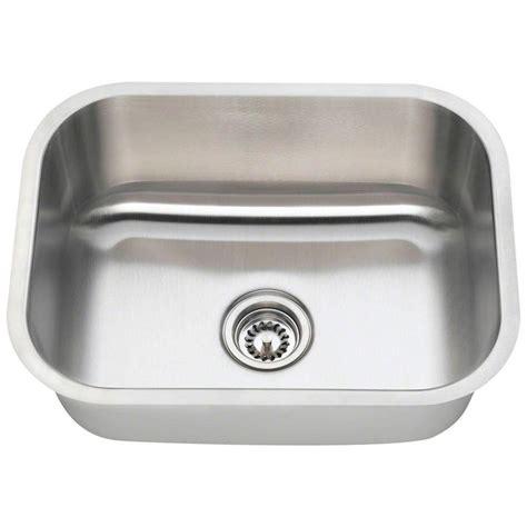 stainless steel single bowl undermount kitchen sink polaris sinks undermount stainless steel 23 in single