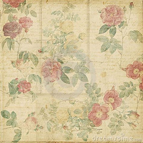 shabby chic retro vintage scrapbook paper vintage roses shabby chic background or scrapbook paper with