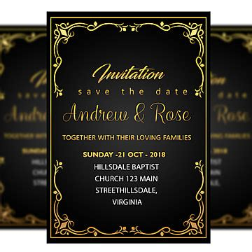 simple invitation card title border vector