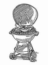 Grill Steak Drawing Barbecue Sausage Vector Grilled Sketch Drawn Bbq Tailgate Clip Illustrations Clipart Grilling Illustration Dessin Gettyimages Draw Simple sketch template