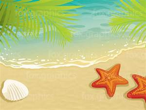 Sand beach vector illustration - Fox Graphics
