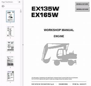 Fiat Hitachi Engine Ex135  165w Pdf Workshop Manual Download