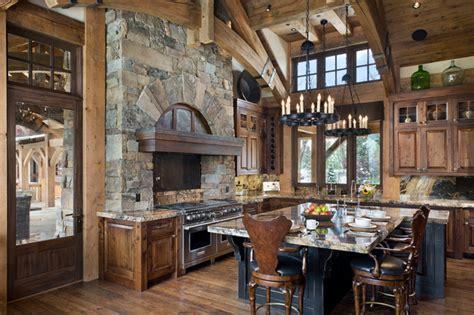 Yellowstone Club Summit Residence   Rustic   Kitchen