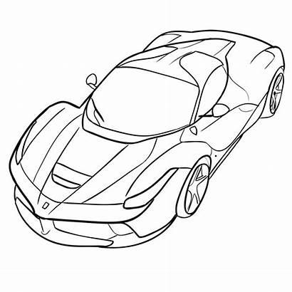 Ferrari Laferrari Draw Step Easy Learn Pages