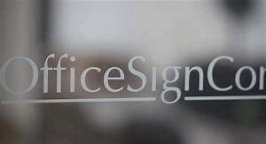 office window vinyl names on windows frosted glass With glass door lettering