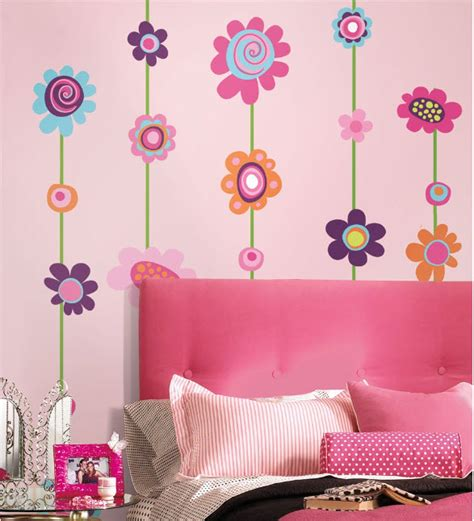 """Flower Stripe 53"""" Giant Wall Stickers Room Decor Decals"""