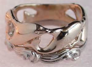 dolphin wedding rings the most beautiful wedding rings gold dolphin wedding rings