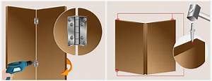 Comment Poser Une Charnière Plate : installer une porte pliante en bois porte ~ Dailycaller-alerts.com Idées de Décoration