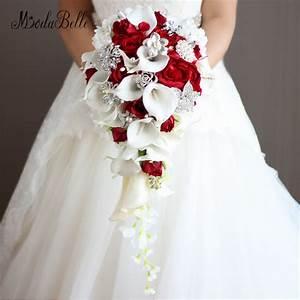 Bouquet De Mariage : buy vintage artificial flowers waterfall wedding bouquets ~ Preciouscoupons.com Idées de Décoration