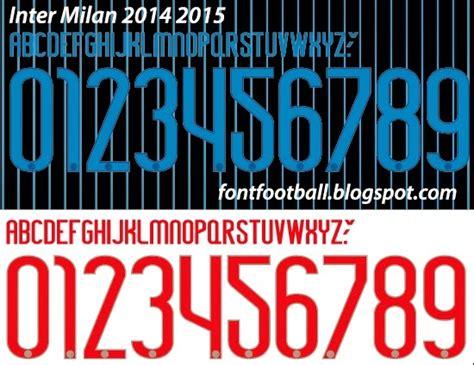 FONT FOOTBALL: Font Vector Inter Milan 2014 2015 kit
