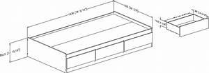 Lit Simple Dimension : matelas lit simple dimension table de lit a roulettes ~ Teatrodelosmanantiales.com Idées de Décoration