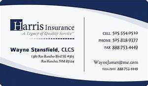 Online business cards templates insurance business card for Example business card
