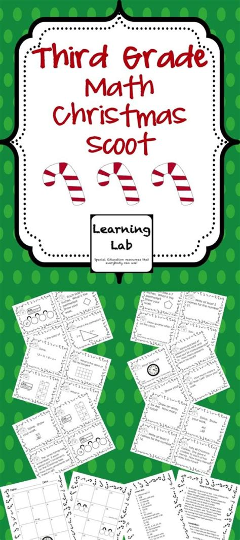 christmas ornaments for 3rd graders to make 3rd grade math scoot everyday mathematics math and