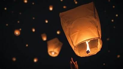 Night Lampion Lanterns Floating Tangled Desktop Wallpapers