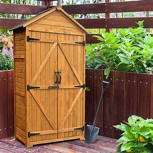 Mcombo, Outdoor, Storage, Cabinet, Tool, Sheds, Backyard, Garden, Utility, Wooden, Organizer, With, Lockable