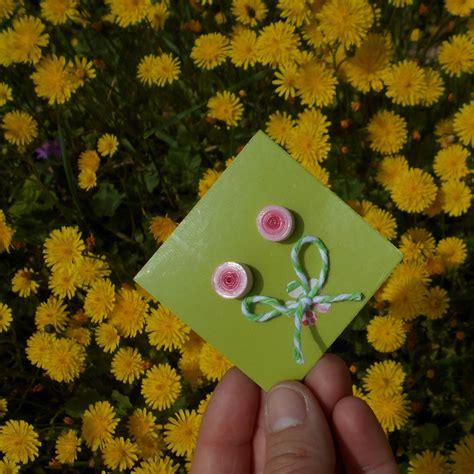 fiori di san giuseppe orecchini a lobo di carta rosa fiori di san giuseppe