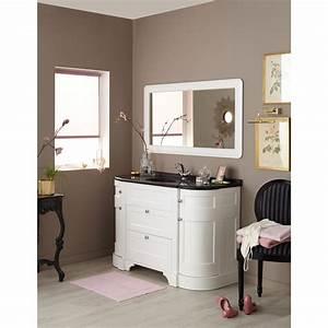 meuble de salle de bains plus de 120 blanc beige With meubles salle de bain personnes handicapées