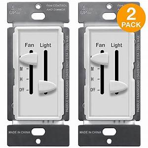 Enerlites 3 Speed Ceiling Fan Control And Led Dimmer Light