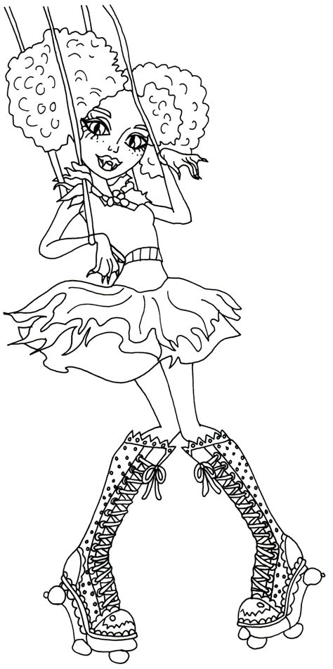 printable monster high coloring pages honey swamp