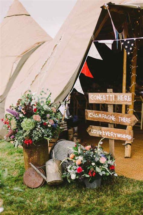 mariage champetre  idees de decoration originales